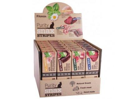 17654 fitmin cat purity snax stripes box 4 prichute 24x35g