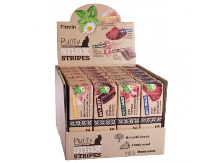 17654 fitmin cat purity snax stripes box 4 prichute 24x35g