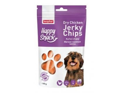 Beaphar Dog Happy Snack pochoutka kuřecí chipsy 60g