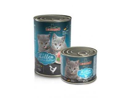 Leonardo Cat Kitten bohaté na kuř.maso konzerva 400g