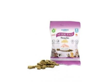 Serrano Snack for Cat AntiHairball Chicken 50 g (12 ks) AKCE 10 %