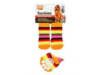 Ponožky pro psa protiskluzové M 2ks/sada KAR