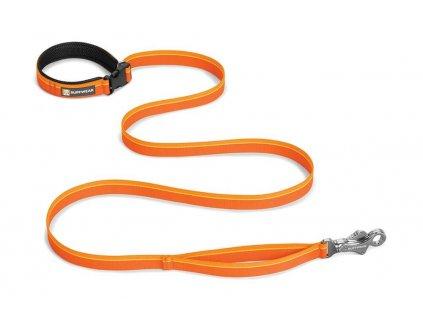 Ruffwear vodítko pro psy, Flat Out Leash, oranžové, velikost 25mmx180cm