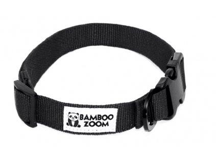 Bamboo Zoom Obojek pro psy černý M
