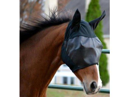 Absorbine Ultrashield EX maska proti hmyzu s ušima 2018 - nový vylepšený model, velikost Horse s odnímatelným prodloužením na nos