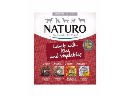 Naturo Dog Adult Lamb & Rice with Vegetables, vanička 400 g