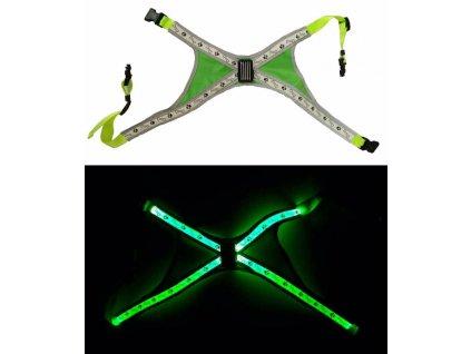 Svítící LED postroje S zelená