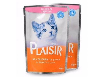 Plaisir Cat Kitten kuřecí v omáčce, kapsička 100 g