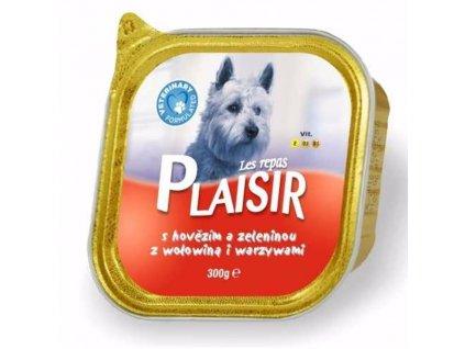 Plaisir Dog hovězí, vanička 300 g