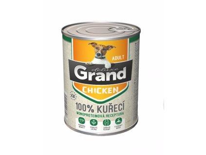 Grand deluxe Dog Adult 100 % kuřecí, konzerva 820 g