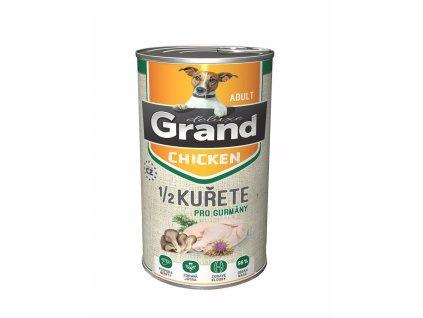 Grand deluxe Dog 100 %  kuřecí s 1/2 kuřete, konzerva 1300 g