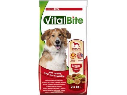 Vitalbite pes drůbeží & hovězí, granule 2,5 kg