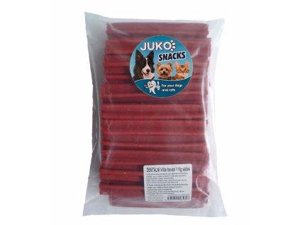 Dentální kříž hovězí JUKO SNACKS 1 kg (cca 47 ks)