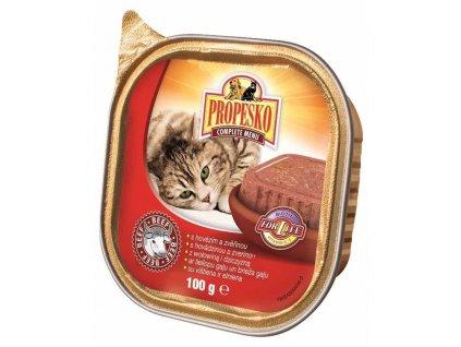 PROPESKO Cat hovězí a zvěřina, vanička 100 g