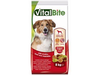 VitalBite pes drůbeží & hovězí, granule 8 kg