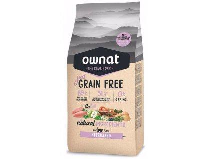 OWNAT Cat Just Grain Free Sterilized 1 kg - AKCE 20% - Expirace 9/21