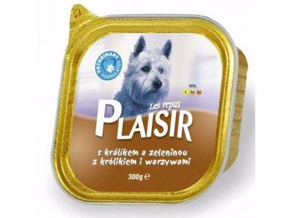 Plaisir Dog králičí, vanička 300 g