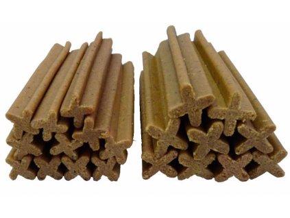 Dentální kříž kuřecíí/rybí JUKO SNACKS 1 kg (cca 50 ks)