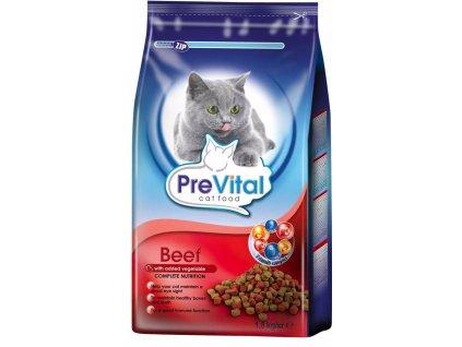 PreVital kočka hovězí+zelenina, granule 1,8 kg