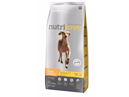 Nutrilove pes Active fresh kuřecí, granule 3 kg