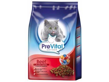 PreVital kočka hovězí se zeleninou, granule 0,4 kg