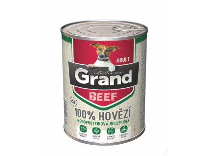 Grand deluxe Dog Adult 100% hovězí 820 g