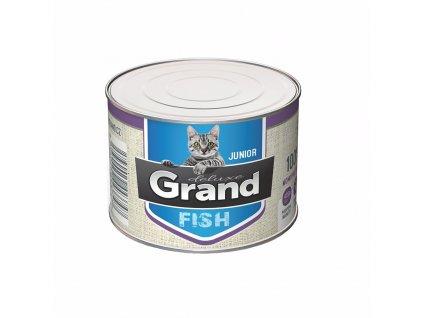 Grand deluxe Cat Junior 100 % rybí, konzerva 180 g