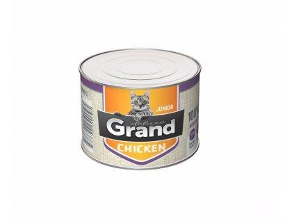 Grand deluxe Cat Junior 100 % kuřecí, konzerva 180 g