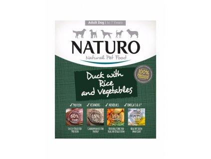 Naturo Dog Adult Duck & Rice with Vegetables, vanička 400 g