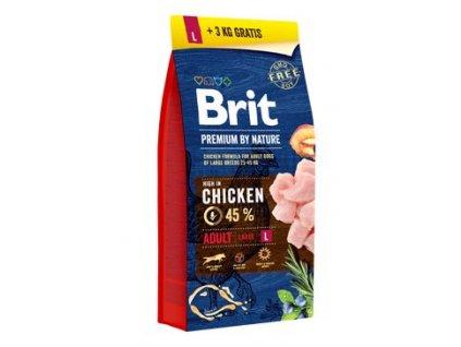 Brit Premium Dog by Nature Adult L 2 x (15kg + 3kg)