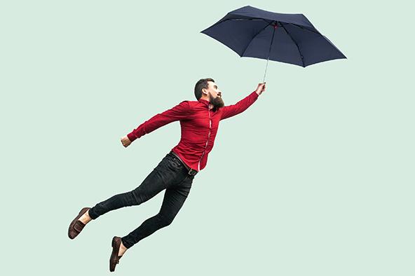 Ploché ultralehké deštníky KNIRPS