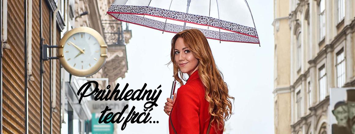 Průhledné deštníky