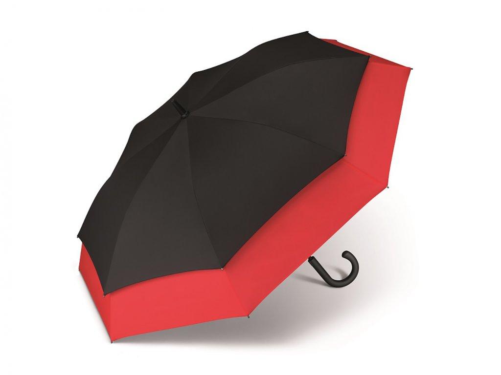 Červenočerný golfový vystřelovací deštník pro dvě osoby