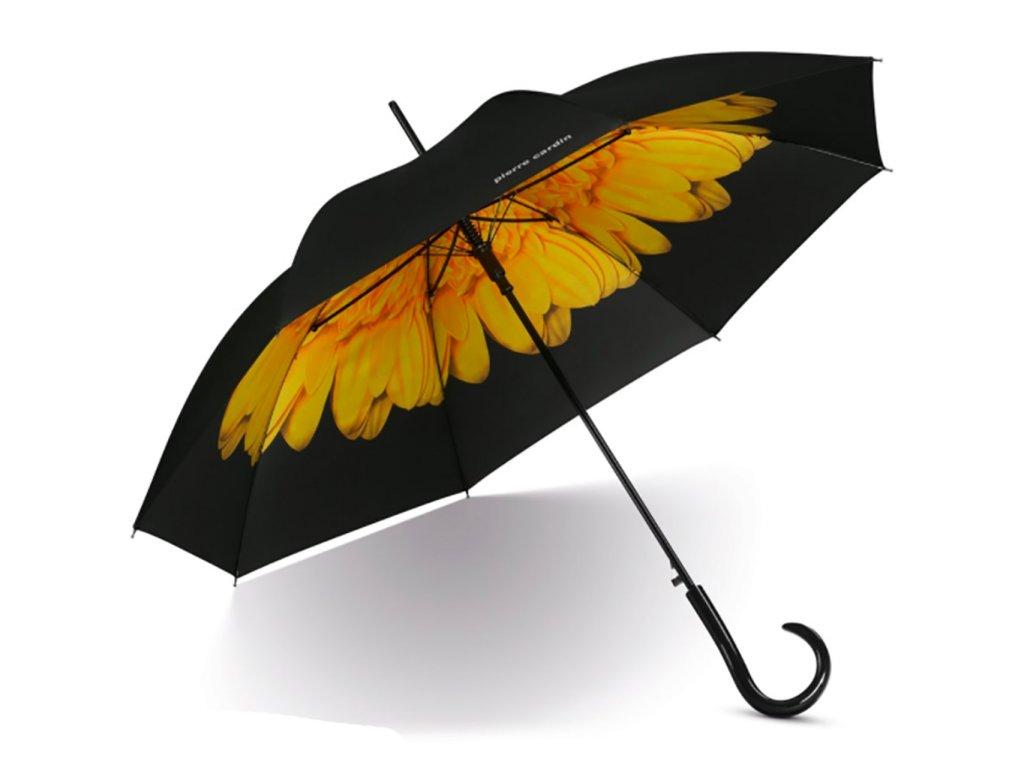 Dámský vystřelovací deštník Pierre Cardin žlutá kytička