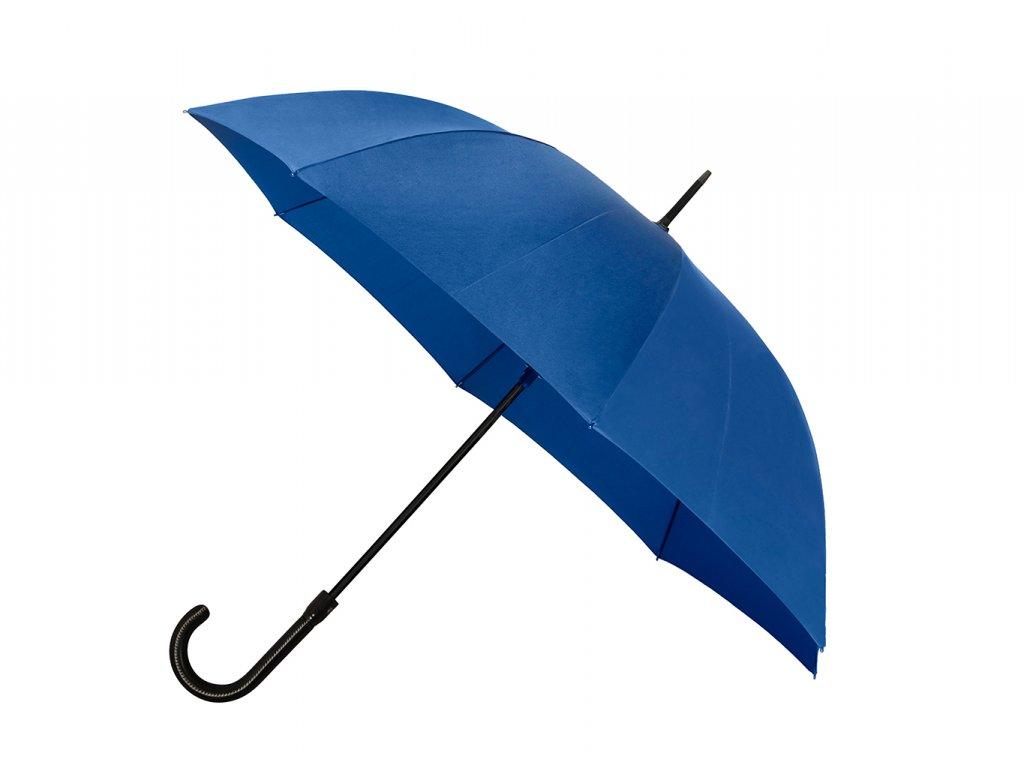 Luxusní pánský vystřelovací deštník s koženou rukojetí
