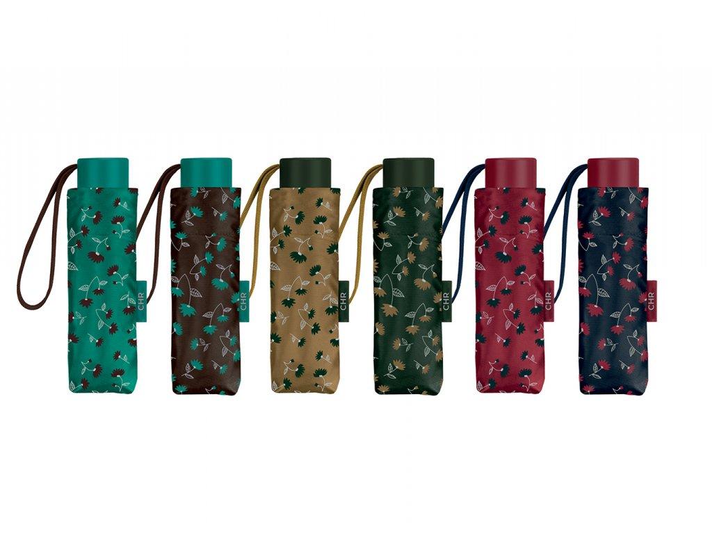 Květovaný mini deštník