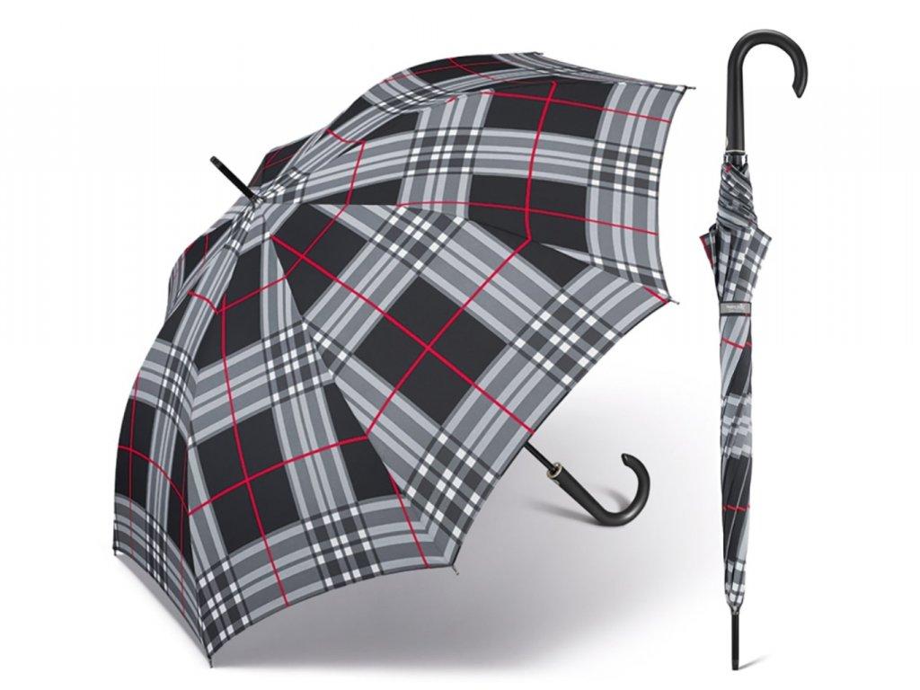 elegantní luxusní dámský károvaný deštník