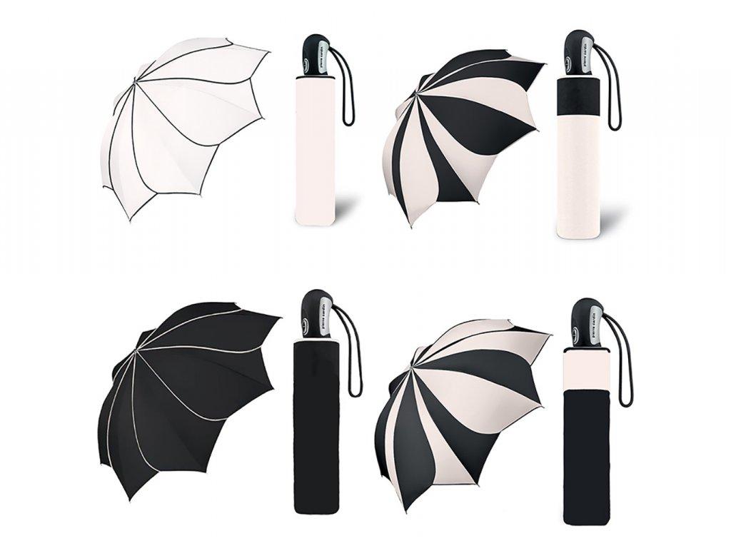 Dámský deštník Pierre Cardin Sunflower černo bílý