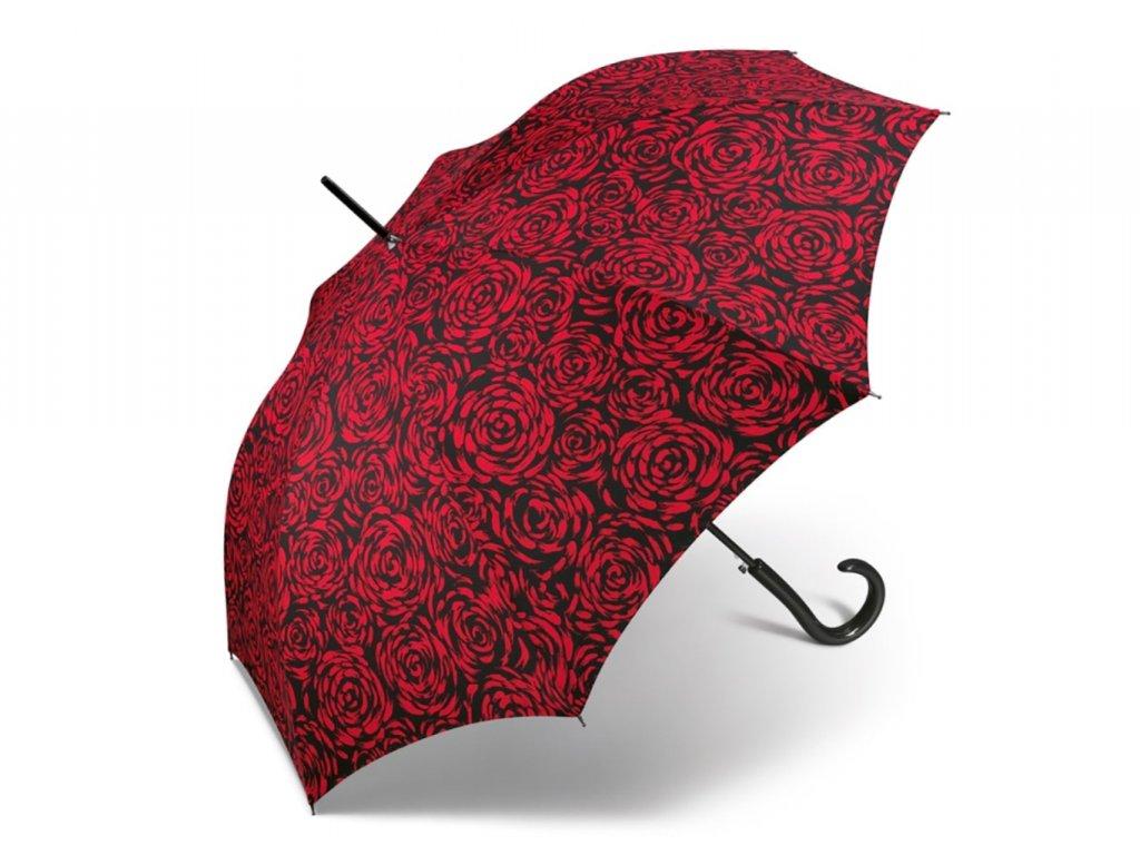 luxusní dámský deštník s růžemi