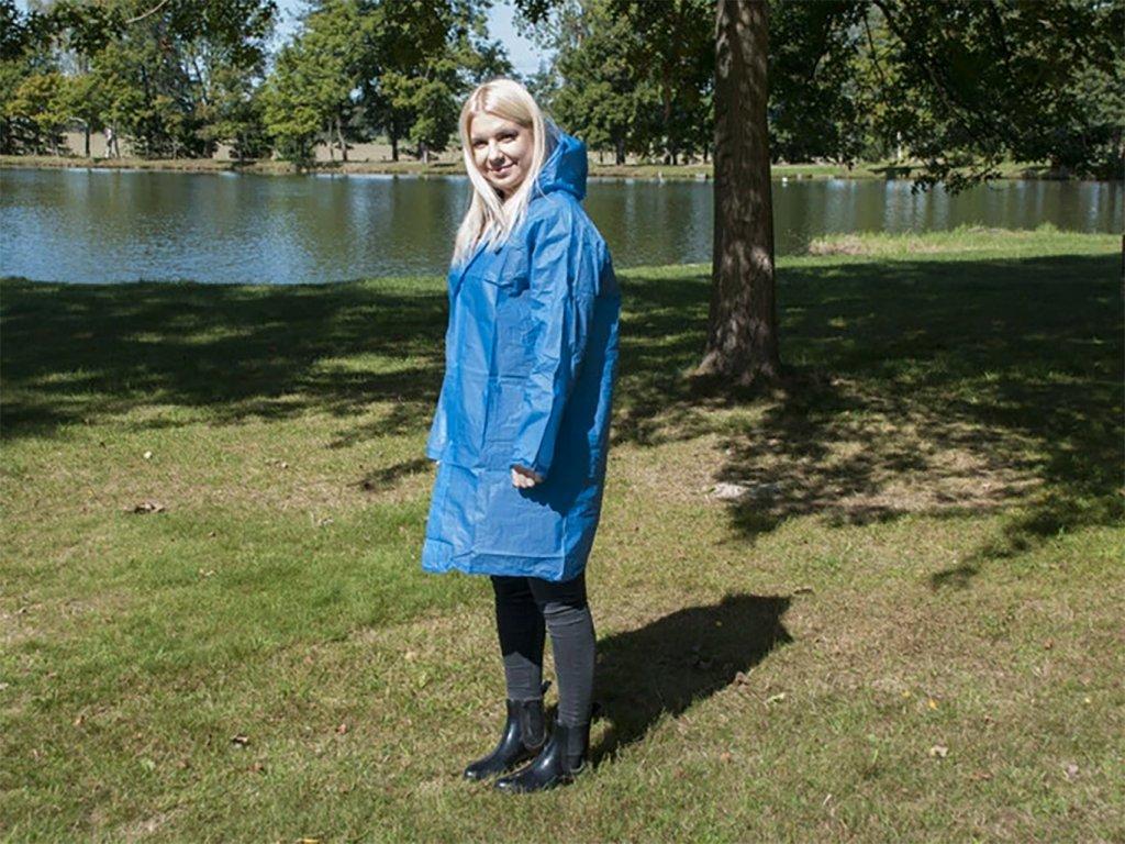 modrá pláštěnka pro dospělé
