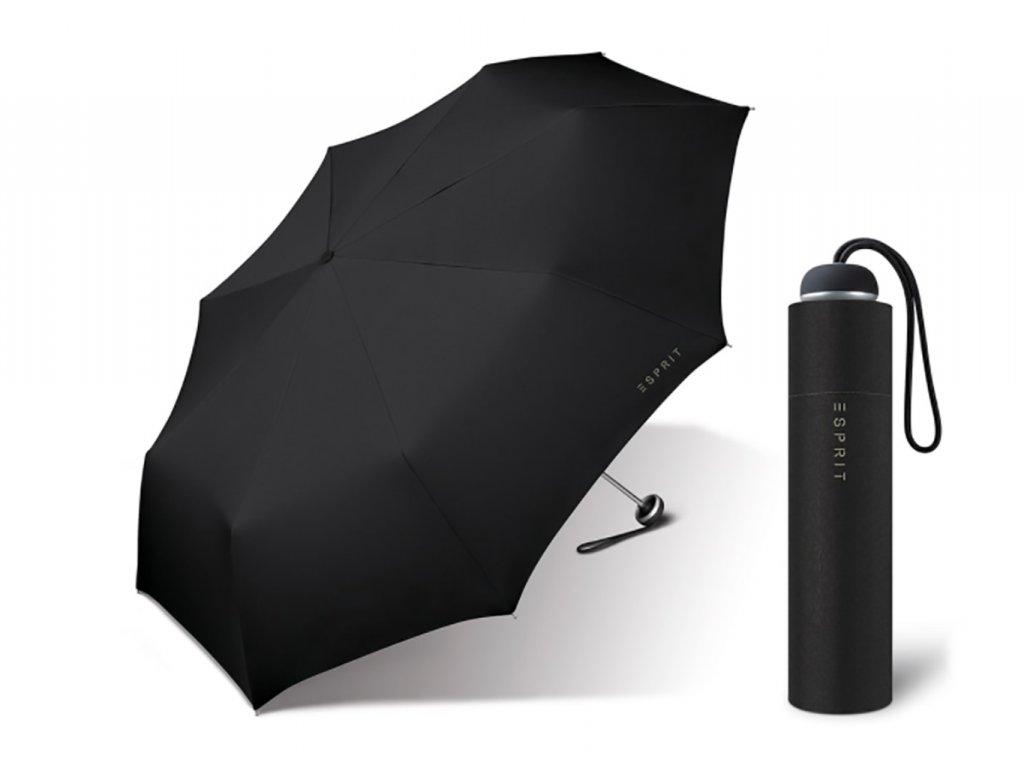 Esprit dámský skládací mini deštník černý