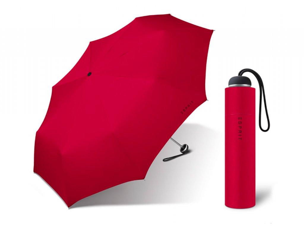 Esprit dámský skládací mini deštník červený