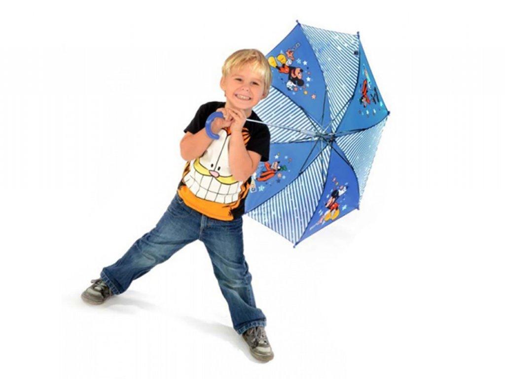 Doppler Mickey & Goofy modrý dětský deštník