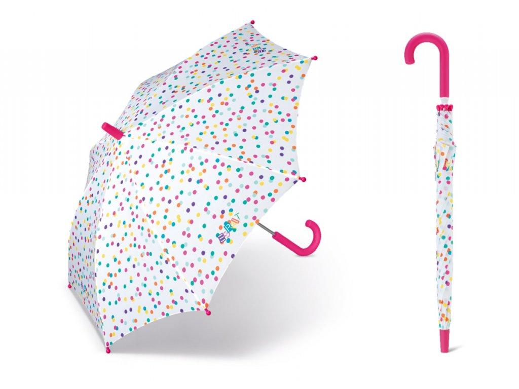 Long Colored Dots dětský puntíkovaný deštník