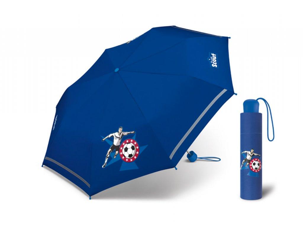 chlapecký deštník s fotbalistou