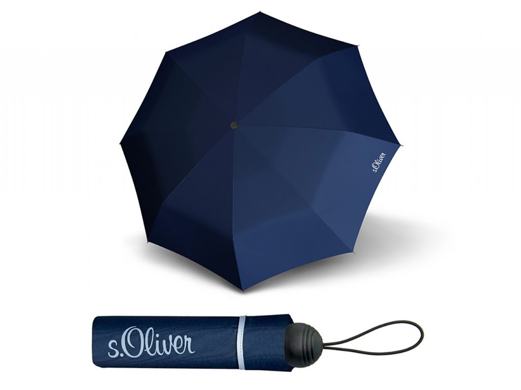 S.Oliver Fruit Cocktail tmavě modrý skládací deštník