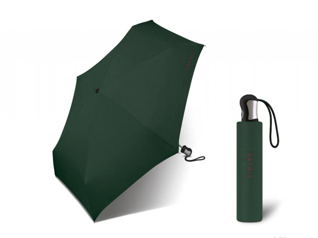 zelený skládací plně automatický mini deštník esprit 4 section