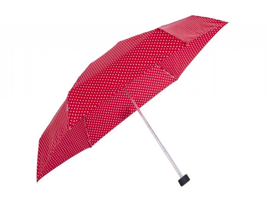 červený dámský puntíkovaný mini deštník Tamaris Tambrella