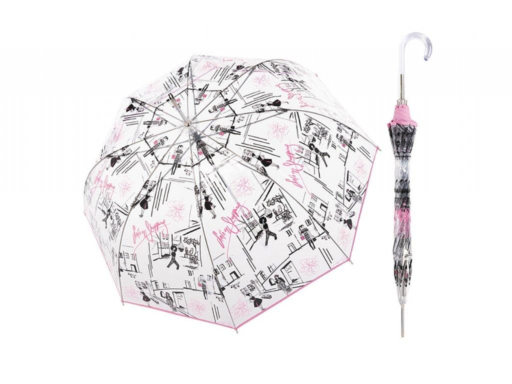 Doppler Transparent St.Tropez dámský průhledný holový deštník