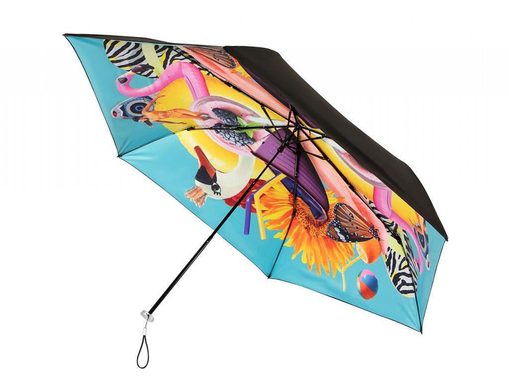 MiniMAX Personal Blue skládací deštník s UV ochranou